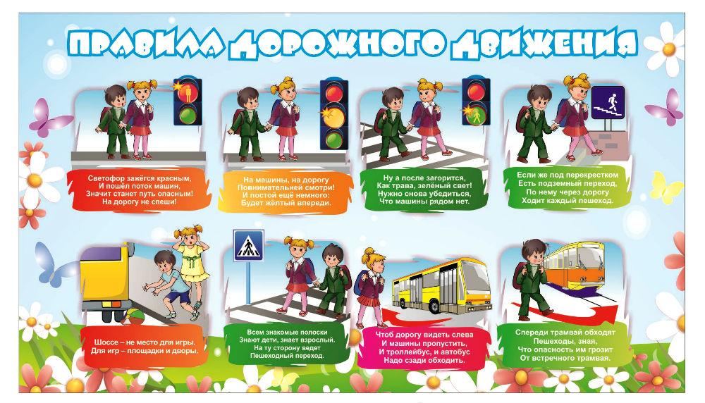Правила безопасности поведения для детей в картинках